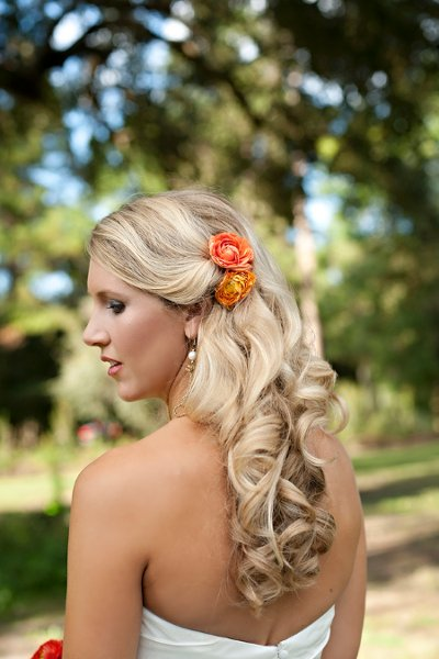 Half Up Styles Wedding Hair Amp Beauty Photos By Christina Watkins Photography Image 1 Of 29