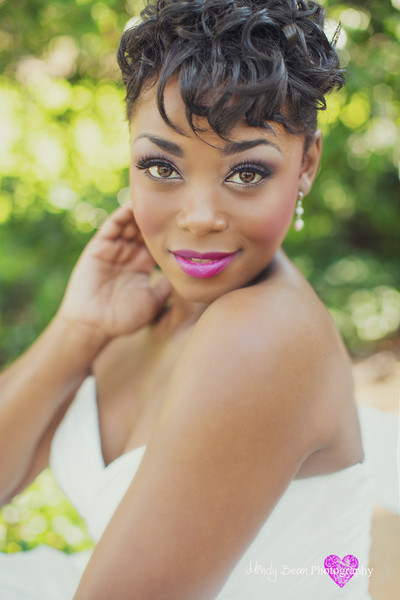 Short Hair Wedding Styles , Wedding Hair & Beauty Photos by Amelia C