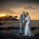130x130 sq 1428495691965 mauna lani hawaii wedding sunset bride and groom