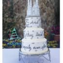 Custom Fairytale Wedding Cake by Delightful Treats Cakery Orlando