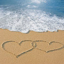 130x130 sq 1401072525149 bigstock hearts drawn in the sand with  1717182
