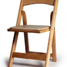 220x220 sq 1509657543530 natural wood chair with pad
