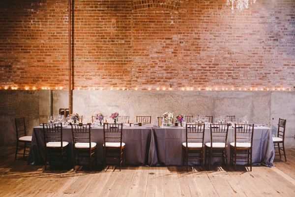 Purple Illinois Fall Loft Wedding Real Wedding Photos By