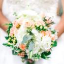 130x130 sq 1422647568192 dress and peach bouquet