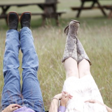 220x220 sq 1511028396261 couple in hay field boots