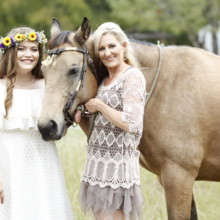 220x220 sq 1511028555701 bride and mom w horse