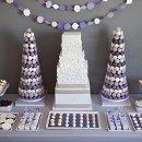130x130 sq 1334864407528 purplewhitegraydessertcandybuffetdisplay