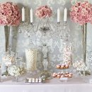 130x130 sq 1341866314359 sweetelegancepinkweddingcandystationbuffet