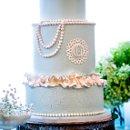 Gatsby inspired vintage wedding cake