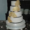 Art Deco Gatsby inspired wedding cake