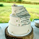 song written by groom for bride, incorporated into the cake design