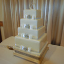 130x130 sq 1421262500063 brooches and bows square wedding cake