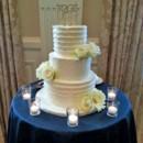 130x130 sq 1421262512264 buttercream texture wedding cake with fresh flower