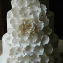 130x130 sq 1421262624678 exploded flower wedding cake gold edging