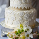 130x130 sq 1421262850832 lace wedding cake with flowers