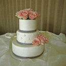 130x130 sq 1421263033801 pink roses and leaf design wedding cake