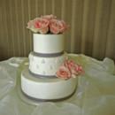 130x130 sq 1421263033801 pink roses and leaf design wedding cake