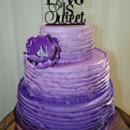 130x130 sq 1421263062165 purple ombre buttercream ruffle weddign cake