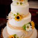 130x130 sq 1421263109375 raffia and sunflowers wedding cake