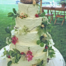 130x130 sq 1421263174611 rustic buttercream finish wedding cake with fresh
