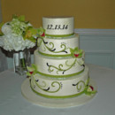 130x130 sq 1421263217358 scroll and orchids buttercreamwedding cake leesbur