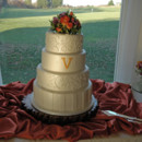 130x130 sq 1421263238655 scrolls and monogram wedding cake