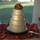 130x130 sq 1421263238655 scrolls and monogram wedding cake