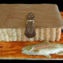 130x130 sq 1421267259453 fishing reel and trout grooms cake