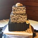 130x130 sq 1449605465750 black lace wedding cake