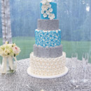 130x130 sq 1467469152020 turquoise and glitter cake1