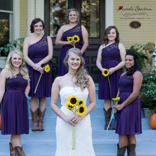 220x220 sq 1455404752078 bridesmaids bride sunflowers historic monroe nc ho