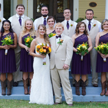 220x220 sq 1455404767858 full bridal party monore nc wedding october