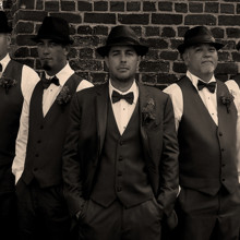 220x220 sq 1455404775711 groomsmen wedding wilmington nc october sepia fash