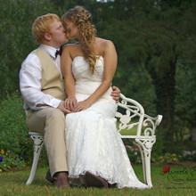 220x220 sq 1455404830997 bride groom kiss bench portrait monroe nc