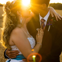220x220 sq 1455404849934 bride groom kiss sunrays sunset monroe nc