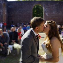 220x220 sq 1455404968434 first kiss guests wilmington nc outdoor ceremony