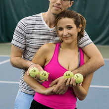 220x220 sq 1455405110862 engagement couple tennis wedding date greensboro n