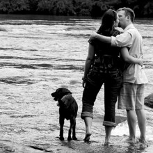 220x220 sq 1455409108594 engaged couple river dog kissing columbia sc