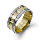 Style LG100  14K white and yellow gold band.