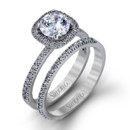 Style MR1842-A  18K white gold set comprised of 0.46ctw round white diamonds.