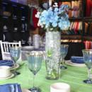130x130 sq 1485530454055 blue flower centerpiece for wedding
