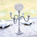 130x130 sq 1485530462055 white candelabra with crystal ball