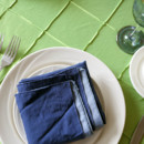 130x130 sq 1485532835221 blue and green 2 color napkin fold