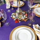 130x130 sq 1485532877358 purple and gold wedding tablescape