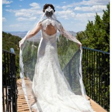220x220 sq 1496621659198 bride veil view