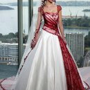 130x130 sq 1351205022707 whiteandredweddingdress2011