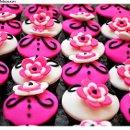 130x130 sq 1337644235781 pinkblack18thbdaycupcakes