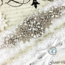 130x130 sq 1370220165972 bridal garter wedding garter set ctretch lace crystal applique garterqueen 3