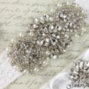 130x130 sq 1370220223085 bridal garter wedding garter set white lace garterqueen 3