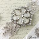 130x130 sq 1370220233604 bridal garter wedding garter set white lace garterqueen 3